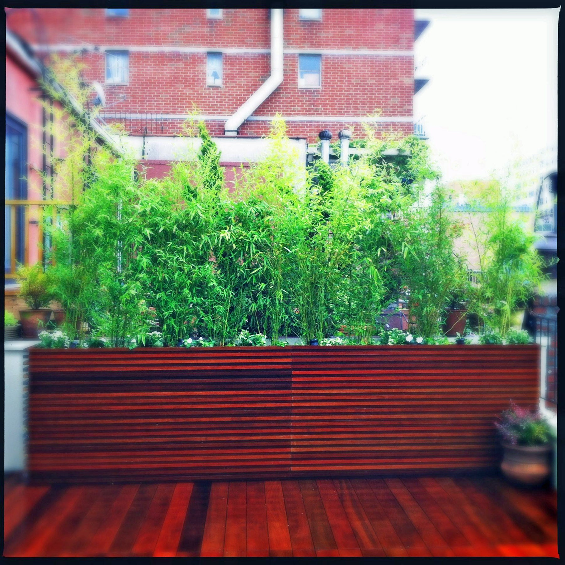 Nyc Roof Garden Design Contemporary Deck Planters Instructables