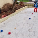 Homemade Bocce Court