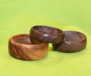 Rings Made From Solid Wood