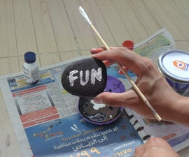 How to paint on Sand Stone