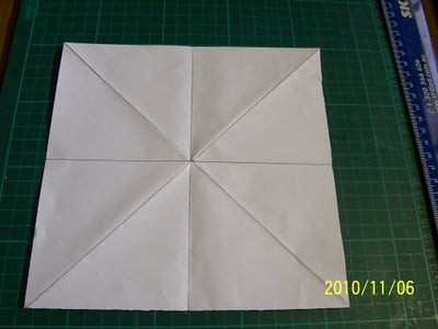 FLIP PAPER OVER TO PATTERNED SIDE. Diagonal Fold