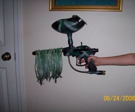 """Ghillied up"" How to make a ghillie paintball gun"
