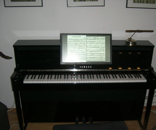 Digital Piano Notes Display