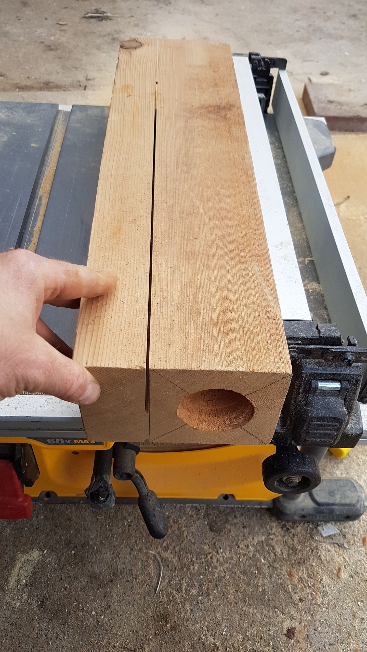 Picture of Drilling the Core of the Log