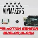 Buglar Alarm Using PIR MOTION SENSOR