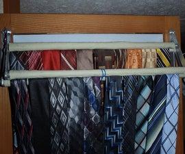 Closet Door Clamping Tie Rack
