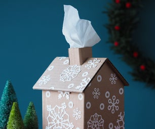 Gingerbread House Tissue Box