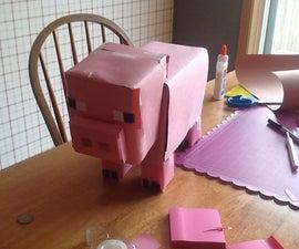 How To Make A Minecraft Piggy Bank!