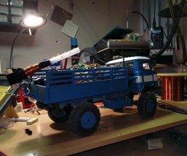 RC Truck With Electromagnetic Accelerator Turret