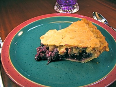 Beets and Steak, Purple Cabbage Slaw, Purple Potatoes, and Blueberry Pie - Purple Day Dinner