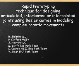 Rapid Prototyping technique for designing joints using Bezier curves.