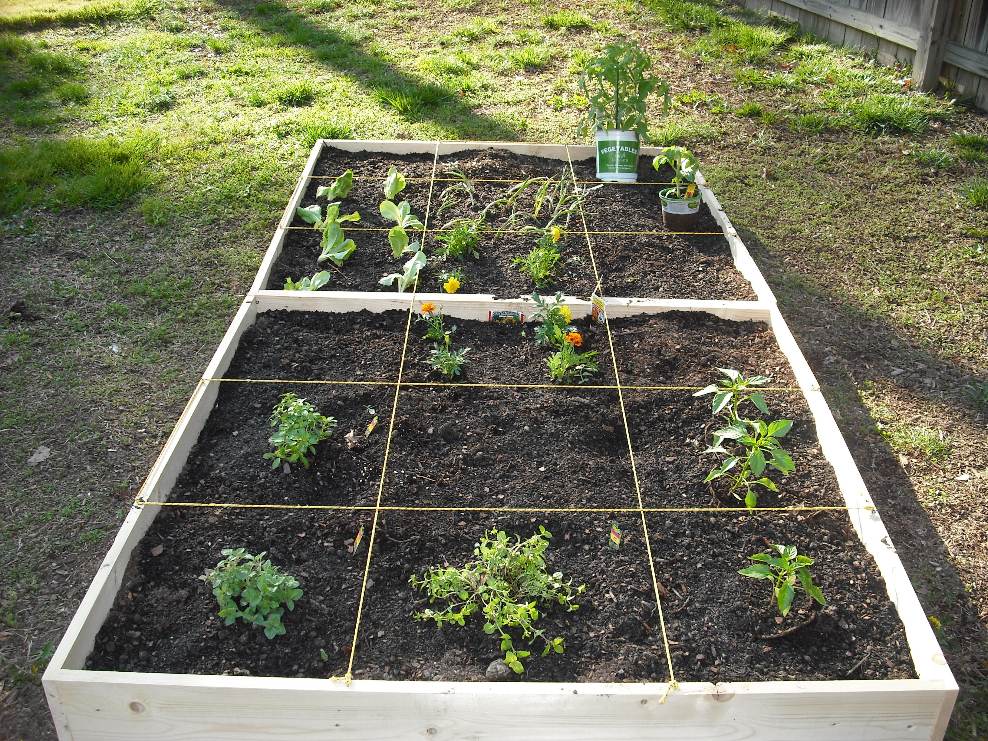 How To Make An Easy Square Foot Garden 9 Steps Instructables