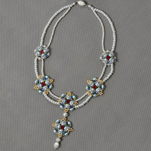 Time for the Final Look of the 2 Strands Pearl Beads Pendant Necklace: