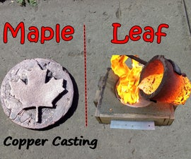 Making a Copper Maple Leaf for Canada Day