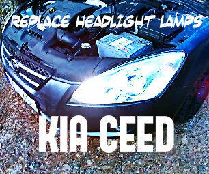 Schema Elettrico Kia Ceed : Replace headlight lamps on a kia ceed left right side steps