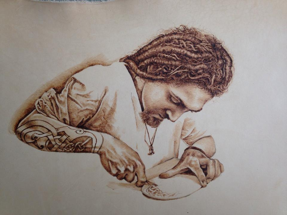 Picture of Leather Pyrography