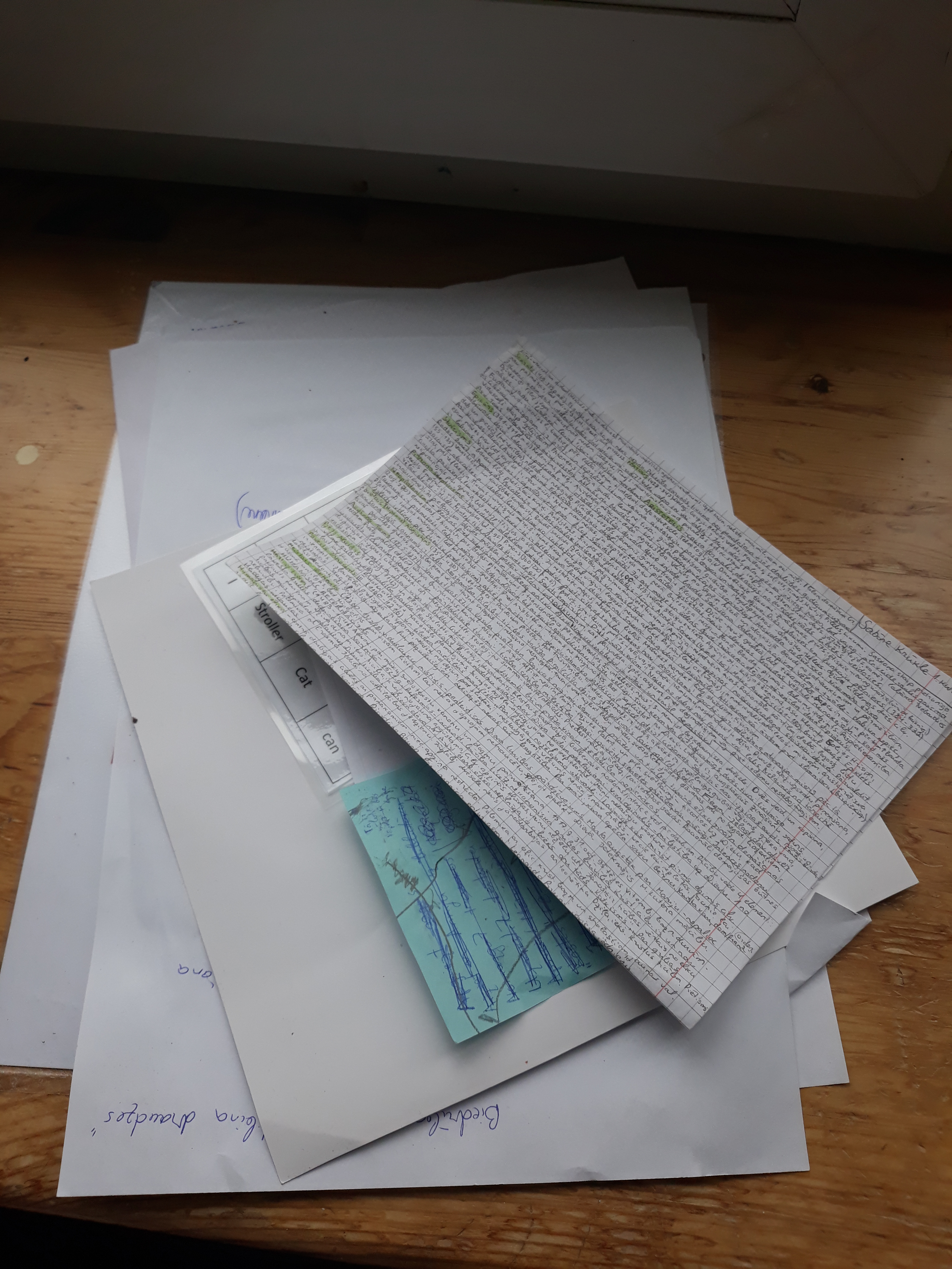 Picture of Old Notes and Notebooks