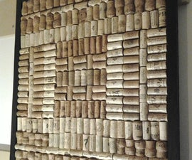 DIY Wine Cork Board: recycle and upcycle