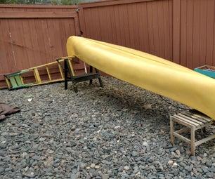 Klickitat Fiberglass Canoe Restoration