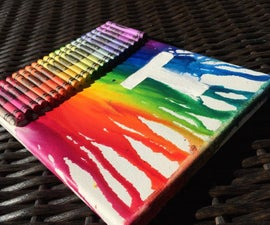 DIY melted crayon painting:)