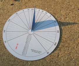 15-minute paper-craft sundial