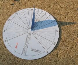 15-minute paper-craft sundial