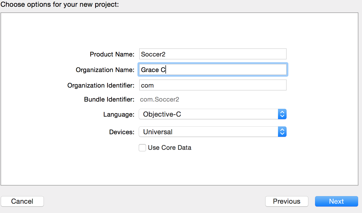 Picture of Xcode Set Up