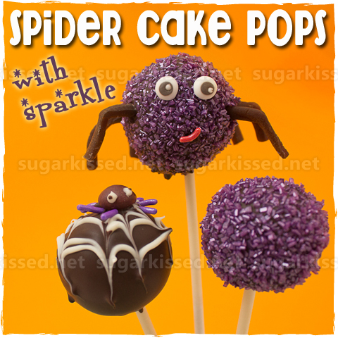 Picture of Spider Cake Pops With Sparkle