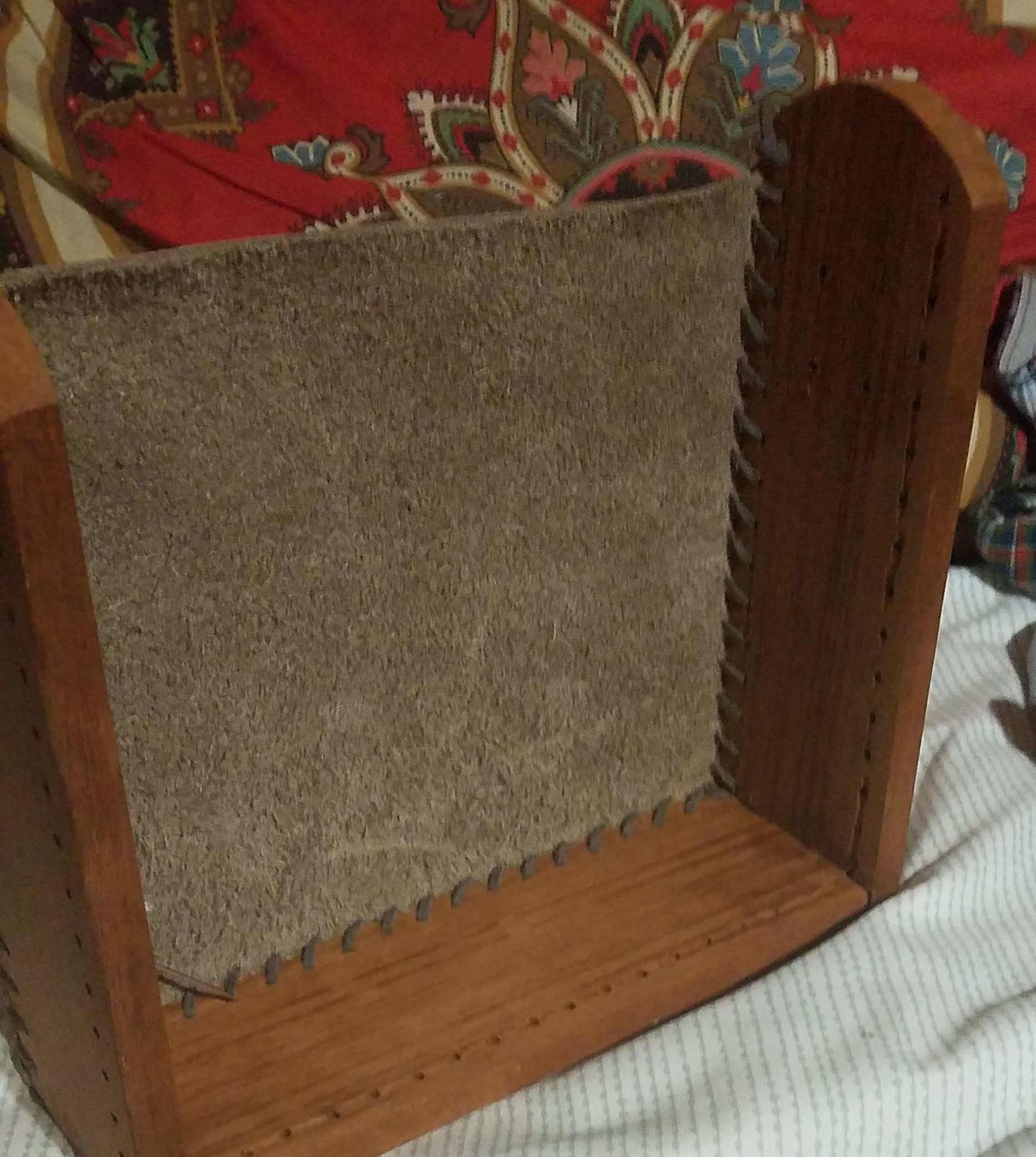 """Picture of """"Sew"""" the Leather to the Wood"""