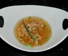 Lobster Consomme with Lobster Mousse Noodles