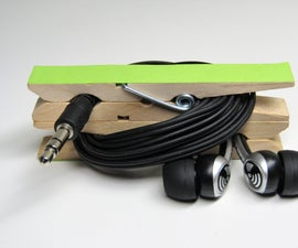 Clothespin Earbud Holder
