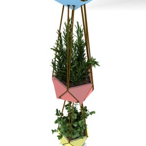 Stackable Hanging Planter, 3D Printed