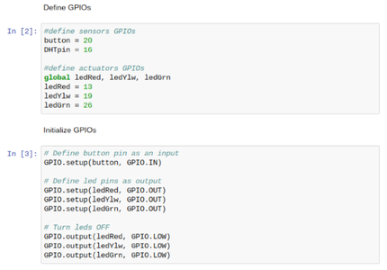 Initialization 2: Defining and Initializing GPIOs