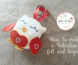 Valentine Felt Keyring
