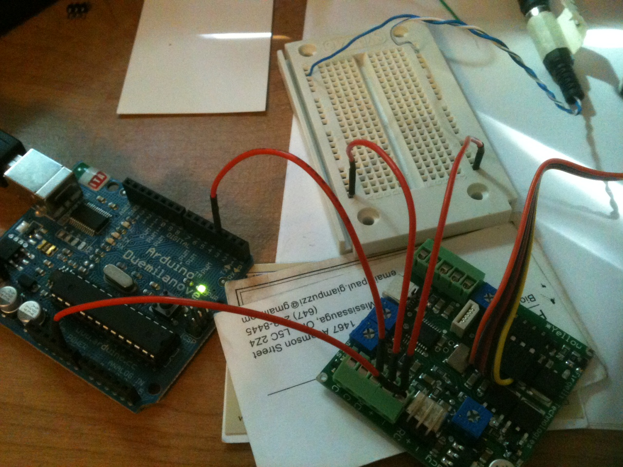 Picture of Request: How to wire a Firgelli L16P to an arduino