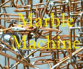 Marble Machine Made With Copper Wire