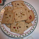 Eggless flour and sugar cookie with nuts (Biscuit)