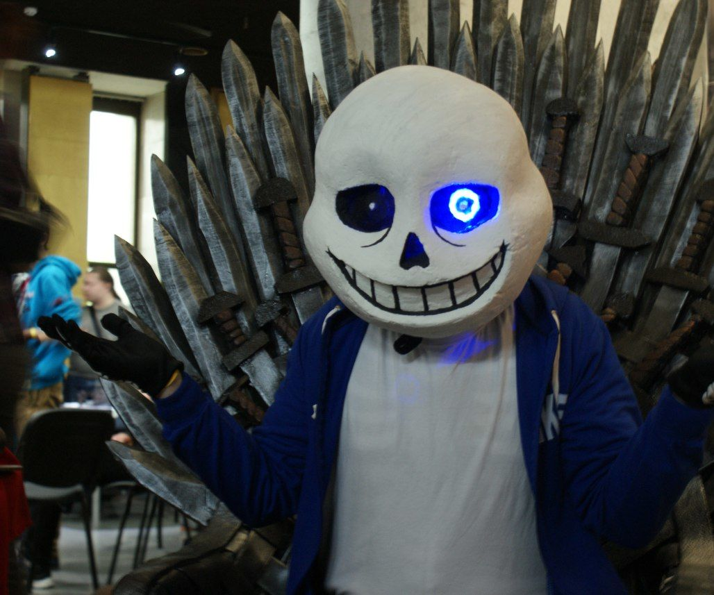 Sans Mask Cosplay With Led 19 Steps With Pictures Instructables