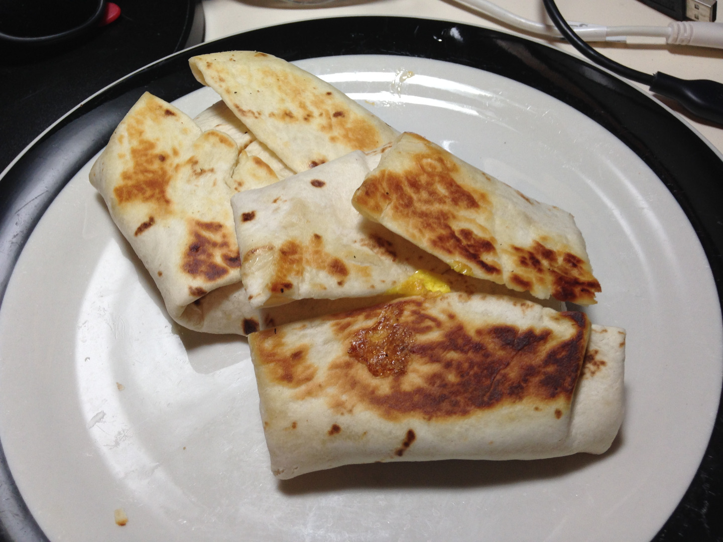 Picture of Peanut Butter, Jelly, and Egg Breakfast Wrap