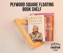 Plywood Square Floating Book Shelf