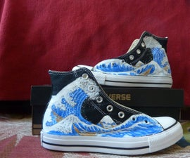 Painted Converse: shoe makeover
