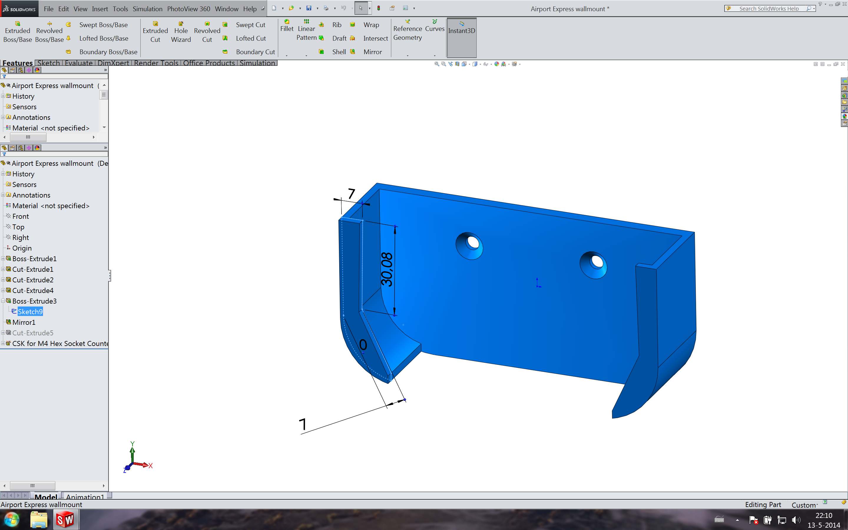 Picture of The CAD Model and Printing