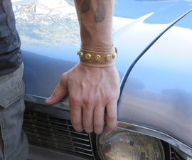 Bullet Studded Leather Cuff