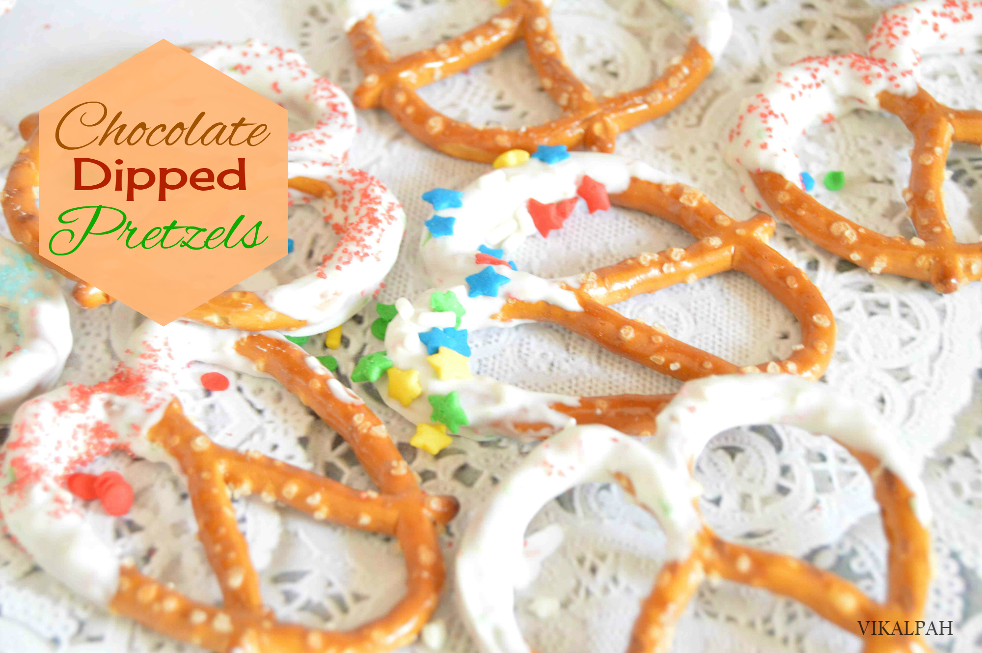 Picture of How to Make Chocolate Dipped Pretzels - Last Minute Edible Gifts