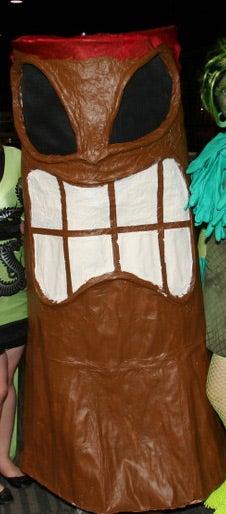 Smoking & Erupting Volcano Tiki Costume