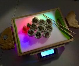 Neopixel Light Up Sushi Serving Board
