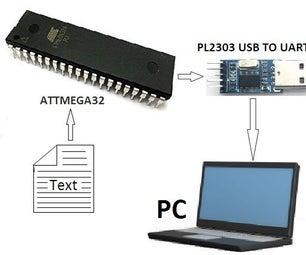 MICROCONTROLLER   to  PC Communication Via PL2303 (USB TO UART  TTL) Converter