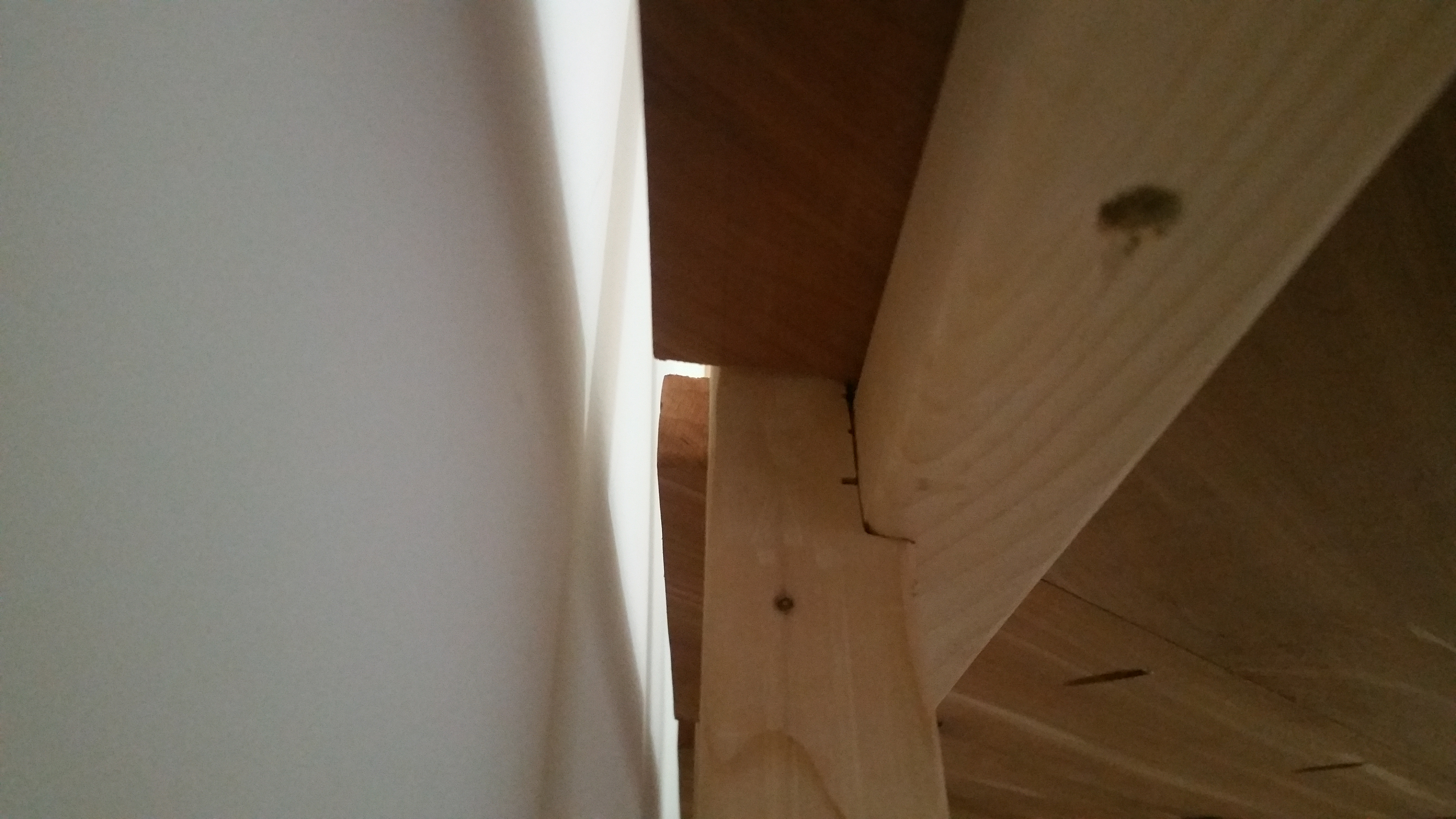 Picture of Attaching the Triangle Table Surface to the Traingle Legs