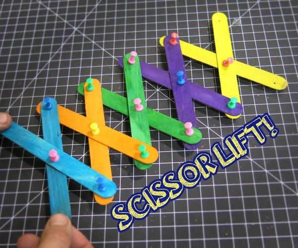 Scissor Lift (by Craft Sticks!)