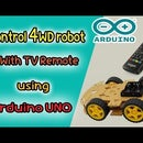 Control 4WD Robot With Tv Remote Using Arduino UNO and L293D